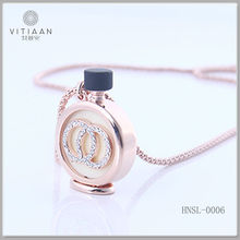 New arrival rose gold necklace chain with rhinestone