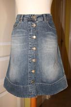 Summer 2015 new design metal button skirt ladies tennis skirt shorts denim washed skirt guangzhou clothing factory wholesale