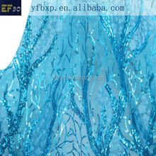 Fahion dress materials african french net lace/ teal blue guipure lace fabric with sequins/ embroidery nigerian lace for wedding