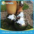 Característica del agua 400 500 600 mm acero inoxidable esfera