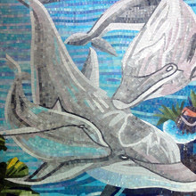 JY-JH-OC02 Glass mosaic tile Swimming pool art Swimming mosaics tiles