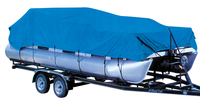 waterproof cheap oxford blue 300D PU coated 12603 straps and buckles fixing Pontoon boat cover