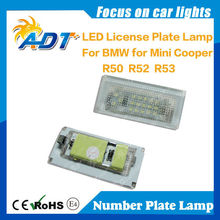 Two Years Warranty Canbus Car LED License Plate Light for Mini Cooper R50 R52 R53 Number Plate Lamp Car Accessories