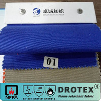 high color fastness 100 cotton heat resistant fire retardant twill fabric for coal-workwer uniform