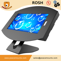45 degrees tiling L shaped free standing on desk 360 degrees Swivel Universal Adjustable free standing tablet pos stand