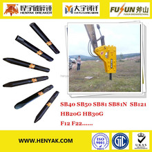 Hydraulic Rock Breaker Tools Breaker Chisel Dia 75mm 175mm