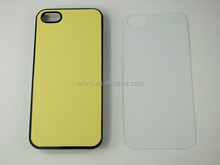 2D blank sublimation case for iphone 5 5s, hard plastic snap on case, black white and transparent colors