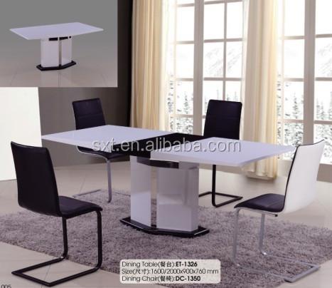 2015 현대적인 디자인 유리 상단 식사 테이블 디자인 나무 멕시코 ...