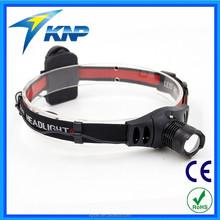 3 Modes Aluminium Zoomable LED UV Flashlight Headlamp