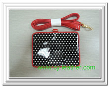 Smooth dots with red leather document sets