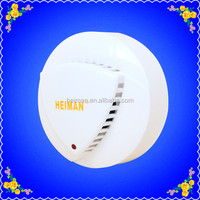 CE approved DC 9V-35V optical conventional 2 wire smoke&heat detector for fire alarm system