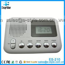 2014 New China hot sell mp3 player fm radio voice recorder with clock, timer