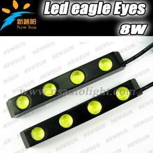 Spuer brighter& hot sale!! 12V DC 8W/pcs Car LED Daytime running lights AUTO LED daytime running light