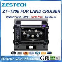 ZESTECH audio Touchscreen DVD/CD/USB/SD/MP4/MP3 Player Receiver Bluetooth and Hands-free with Remote for toyota land cruiser