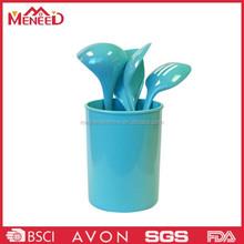 2015 Lastest design light blue economic plastic melamine kitchen accessories set
