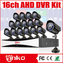 New arrival AHD 16Ch H 264 Network DVR Setup with 16Bullet cameras