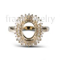 Genuine 585 Yellow Gold Ring Making Supplies In China RL0102