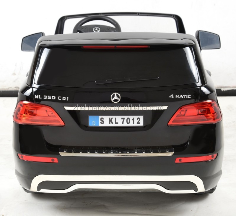 Newest 12volt licensed ride on car mercedes benz ml350 toy for Motorized mercedes benz toy car