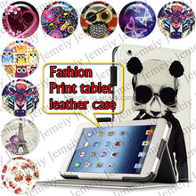 """For ipad 4 9.7"""" Tablets Printing Folding PU Leather Case Media Stand Folio Case Cover"""