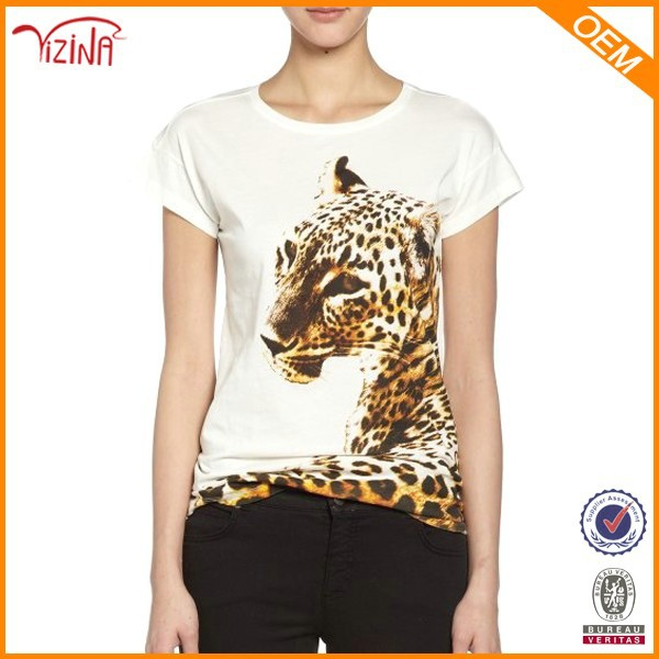 2015 t shirt fashion wholesale tshirt manufacturer animal for Wildlife t shirts wholesale