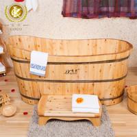kangxi handmade good quality freestanding wooden shower bathtub
