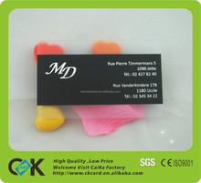 holiday business cards/Best Material PVC transparent business card