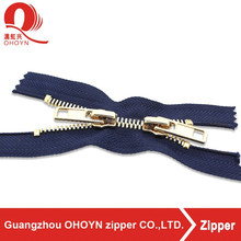 NO.8 custom length and color finished double slider zipper