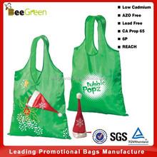 Eco Friendly 190T polyester christmas gift bag, gift shopping bag