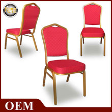 2015 cheap dubai gold aluminum banquet chair