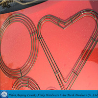pvc coated 3 rings craft wire heart shape