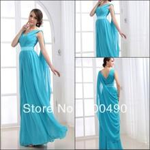 Rt037 modèle réel Professional Designer Empire en mousseline de soie V - décolleté jupettes robes de soirée robes nouvelle mode 2013