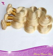 Double drawn white blonde remy Brazilian human hair extension