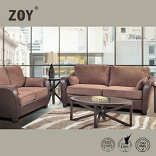 Zoy High Quality Synthetic Leather+Fabric Drawing Room Sofa Design For Home 92690