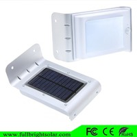 16 LED big promotion bright solar motion light for wall and fence