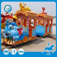 Factory&Professional!!!Wonderful Amusement Park Elephant Rides Track Train Attraction
