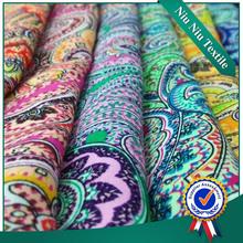 Fornecedor tecido 100% rayon tecido étnico impressão de tecido de pano estampados