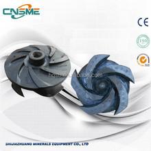 5 vanes rubber liner semi-open impeller sump pump in stock