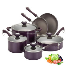 Best Induction Cookware Set/10pcs Pots and Pans With Total Non-stick Coating For Home Cooking