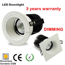great performance AC COB light 220V input led recessed downlight 12v 3w Save driver best price CE 3years warranty