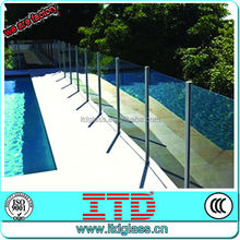 ITD-SF-FGM10716 Tempered glass pool fencing with CCC/CE/ISO9001