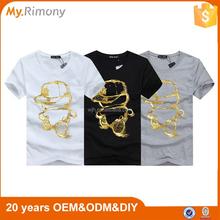 High quality 100% cotton t shirt in bulk EU/US big size custom printing t-shirt