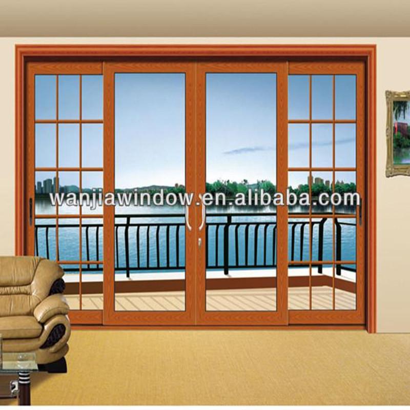 Aluminum multi track sliding door front door designs buy for Multi sliding glass doors