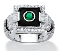 wholesale cubic zircon platinum plated sterling silver ring jewelry