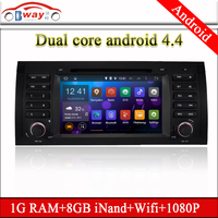 Bway dual core Android car audio for E39 E38 E53 X5 5 Series android 4.4 car dvd player with 3G,wifi,1G RAM,8GB Nand,1080P
