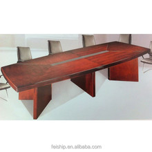 wood conference table wood with aluminum conference table FS0074