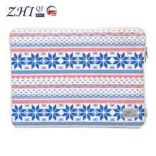 OEM ladies latest fashion printed waterproof PVC notebook laptop sleeve case 17.3 for tablet