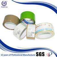 BOPP Waterproof Hot Melt Self Adhesive Packing Tape with Transperant and Green and Brown Color