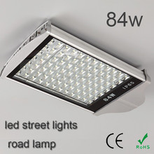 Hot selling super brightness outdoor 84w led street lights road lamp warm white
