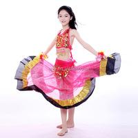 3pcs Gorgeous Stage Wear kids latin dance wear