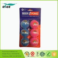 White PP beer non-hazardous pong balls